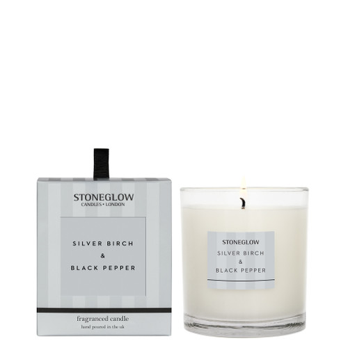 Modern Classics - Silver Birch & Black Pepper - Scented Candle - Boxed Tumbler