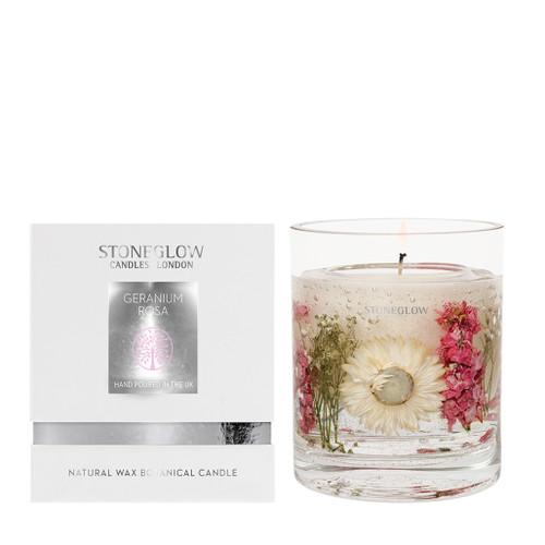 Nature's Gift - Geranium Rosa - Natural Wax Scented Candle - Gel Tumbler
