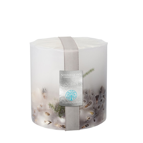 Nature's Gift Ocean Pillar Candle