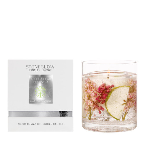 Nature's Gift - Apple & Pear Blossom - Natural Wax Scented Candle - Gel Tumbler