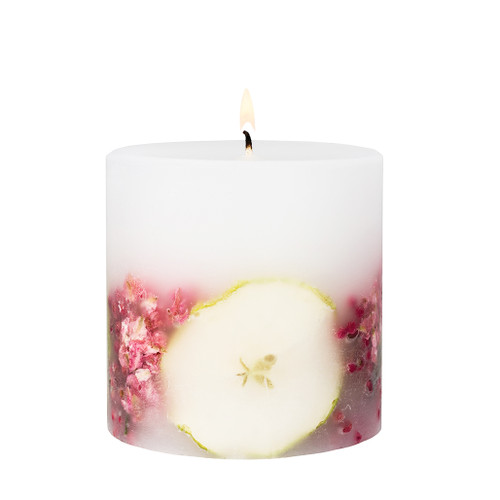 Nature's Gift - Apple & Pear Blossom - Scented Candle - Inclusion Pillar