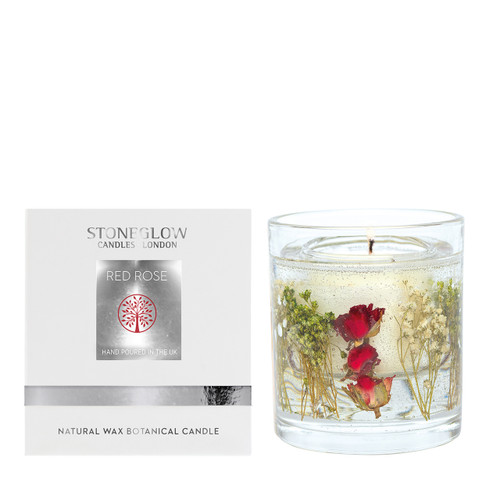 Nature's Gift - Red Rose - Natural Wax Scented Candle - Gel Tumbler