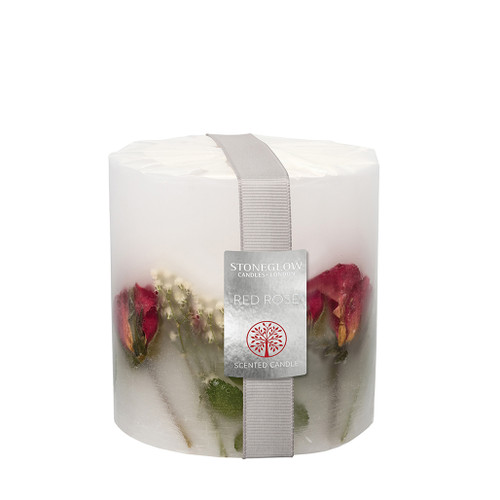 Nature's Gift Red Rose Pillar Candle