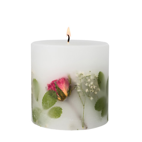 Nature's Gift - Red Rose - Scented Candle - Inclusion Pillar