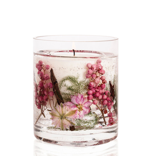 Nature's Gift Pink Pepper Flowers Natural Wax Gel Candle