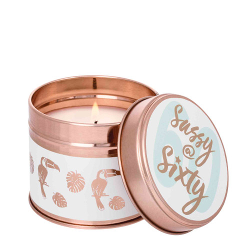 Milestone Scented Candle Tins:  Sassy @ Sixty Pomegranate