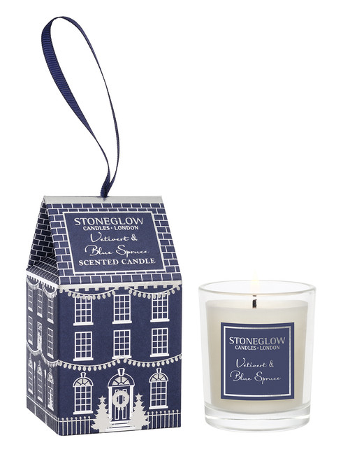 Stoneglow Candles - Seasonal Collection Vetivert & Blue Spruce Votive House