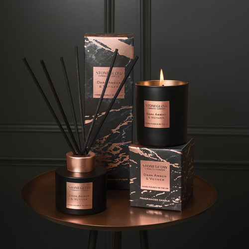Luna - Dark Amber & Vetiver - Scented Candle - 3-Wick Boxed Tumbler (Large)