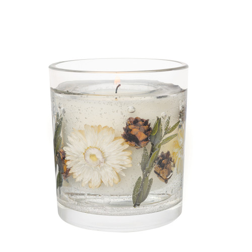 Nature's Gift - Amber Woods & Blossom - Natural Wax Scented Candle - Gel Tumbler