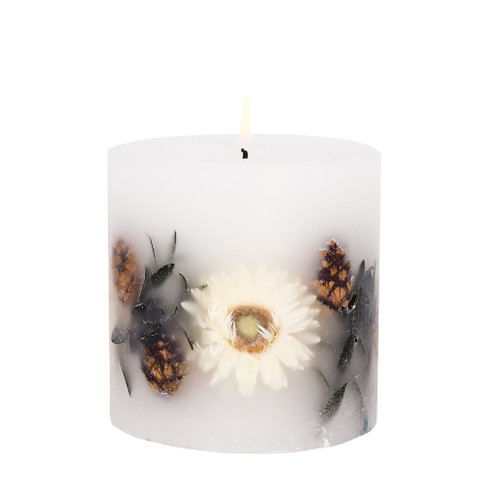 Nature's Gift - Amber Woods & Blossom - Scented Candle - Inclusion Pillar