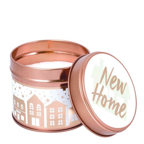 Milestone Scented Candle Tins:  New Home Green Apple