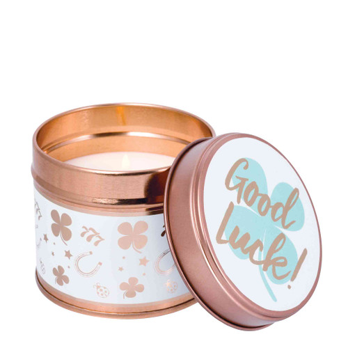 Milestone Scented Candle Tins: Good Luck Green Apple