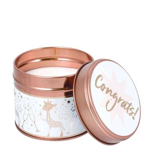 Milestone Scented Candle Tins: Congrats! Blackberry