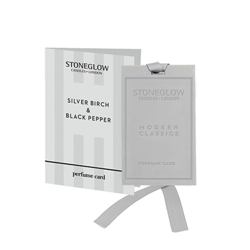 Modern Classics NEW - Silver Birch & Black Pepper Perfume card
