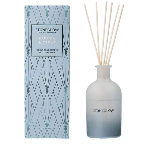 Geometric - NEW Freesia & Cedar Reed Diffuser