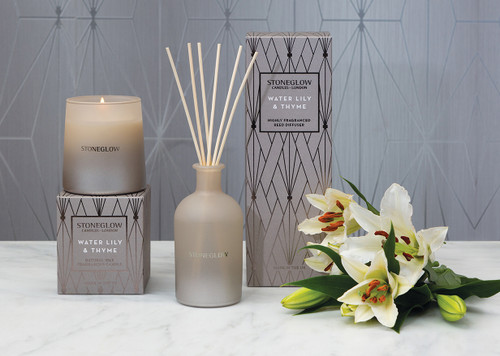 Geometrics - Water Lily & Thyme - Scented Candle - Boxed Tumbler