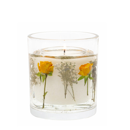 Nature's Gift Yellow Tea Rose Natural Wax Gel Candle