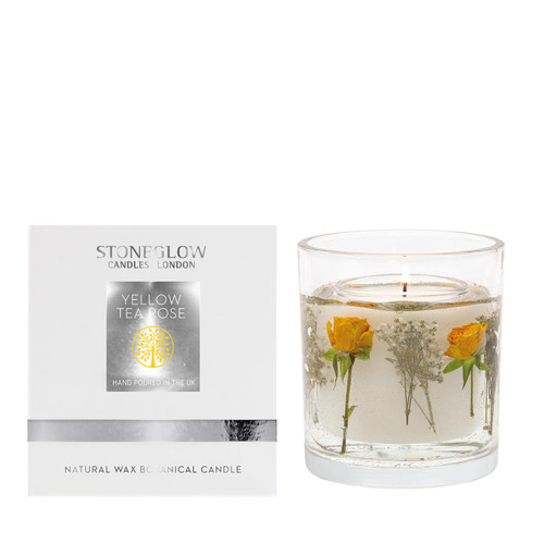 Nature's Gift - Yellow Tea Rose - Natural Wax Scented Candle - Gel Tumbler