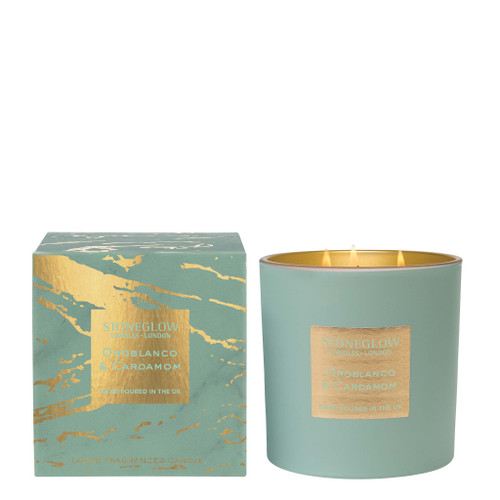 Luna - Oroblanco & Cardamom - Scented Candle - 3-Wick Boxed Tumbler (Large)