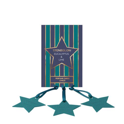 Seasonal Collection - Eucalyptus & Lime Perfume Hanging Cards 3-Pack