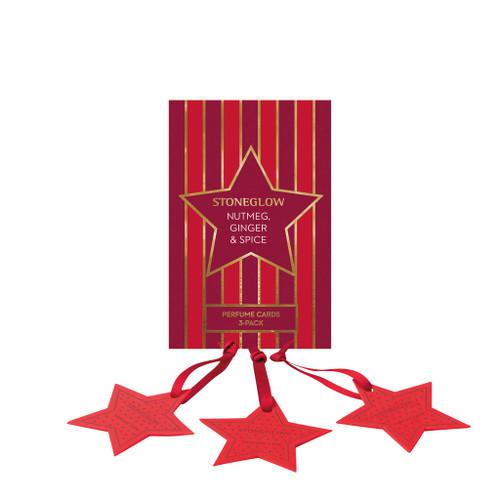 Seasonal Collection - Nutmeg, Ginger & Spice - Perfume Hanging Stars (3-Pack)