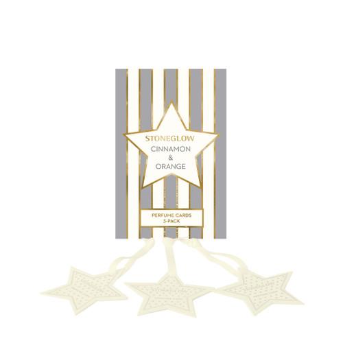 Seasonal Collection - Cinnamon & Orange - Perfume Hanging Stars (3-Pack)