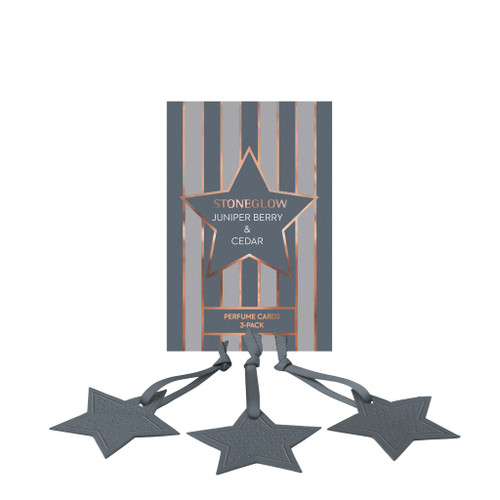 Seasonal Collection - Juniper Berry & Cedar - Perfume Hanging Stars 3-Pack