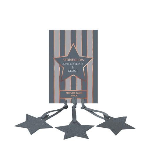 Seasonal Collection - Juniper Berry & Cedar - Perfume Hanging Stars (3-Pack)