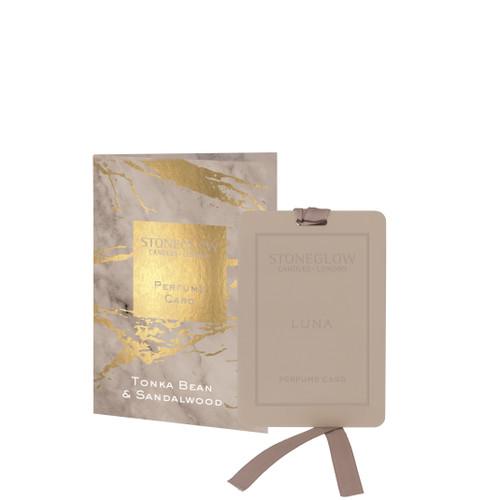 Luna - Tonka Bean & Sandalwood Perfume Card