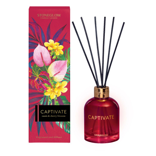 Infusion - Cassis & Cherry Blossom - Reed Diffuser (Red) Captivate