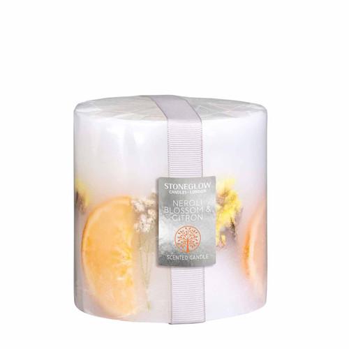 Nature's Gift - Neroli Blossom & Citron - Scented Candle - Inclusion Pillar
