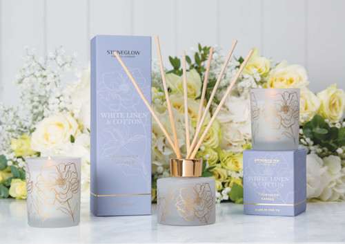 Day Flower - White Linen & Cotton - Reed Diffuser 120ml