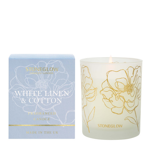 Day Flower New - White Linen & Cotton Scented Candle