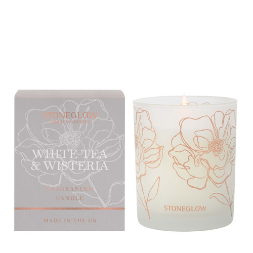 Day Flower New - White Tea & Wisteria Scented Candle