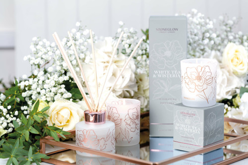 Day Flower - White Tea & Wisteria - Scented Candle