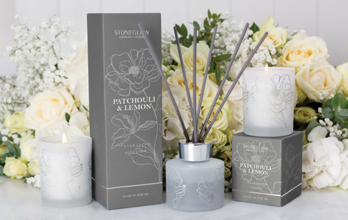 Day Flower  - Patchouli & Lemon - Scented Candle