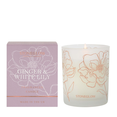Day Flower New - Ginger & White Lily Scented Candle