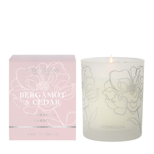Day Flower New - Bergamot & Cedar Scented Candle