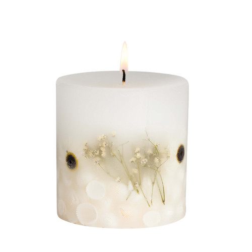 Nature's Gift - Beach Daisy - Scented Candle - Inclusion Pillar
