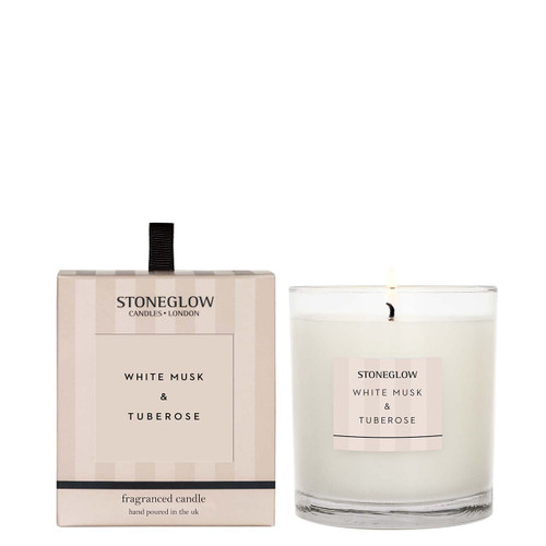 Modern Classic - White Musk & Tuberose Scented Candle