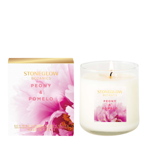Botanic - Peony & Pomelo Boxed Scented Candle 190gms