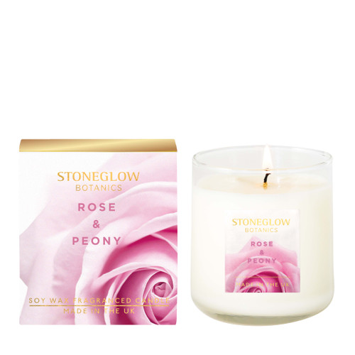 Botanic - Rose & Peony Boxed Scented Candle 190gms