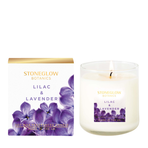 Botanic - Lilac & Lavender Boxed Scented Candle 190gms