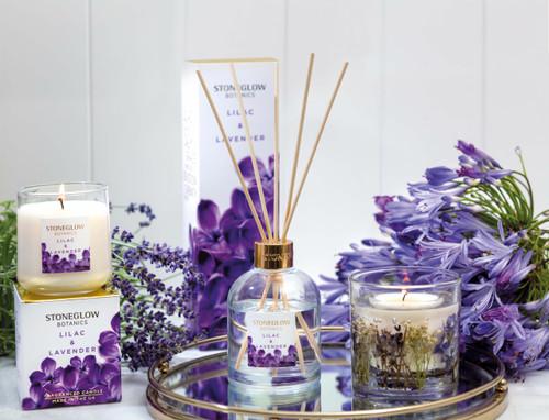 Botanics - Lilac & Lavender - Scented Candle - Boxed Tumbler