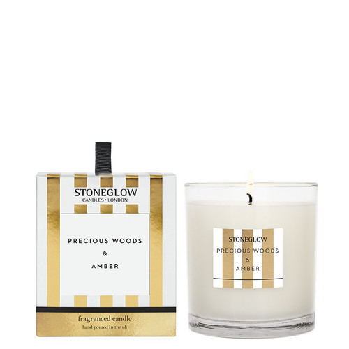 Modern Classics Anniversary Edition - Precious Woods & Amber - Scented Candle - Boxed Tumbler