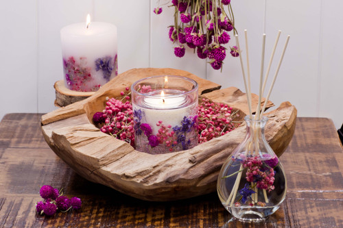 Nature's Gift - Wild Berries & Rose - Natural Wax Scented Candle - Gel Tumbler