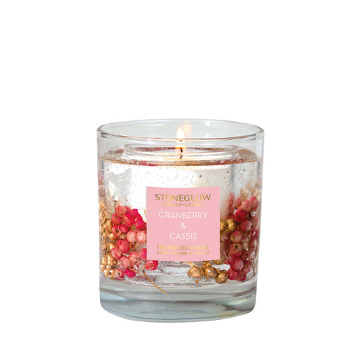 Seasonal Collection - Cranberry & Cassis - Natural Wax Scented Candle - Gel Tumbler