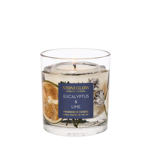 Seasonal Collection  - Eucalyptus & Lime - Natural Wax Scented Candle - Gel Tumbler