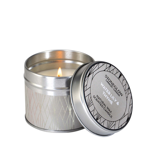 Geometrics - Water Lily & Thyme - Scented Candle - Tin