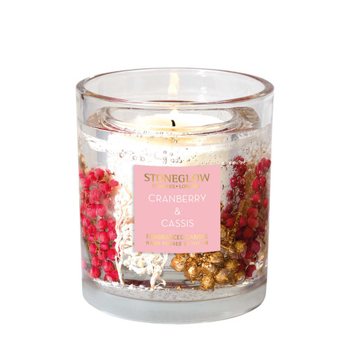 Seasonal Collection - Cranberry & Cassis - Natural Wax Scented Candle - Gel Vase (Large)
